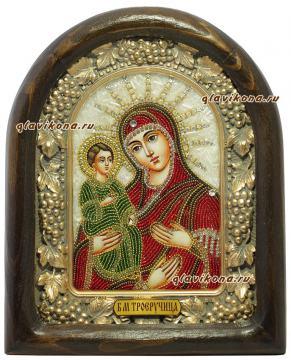 Икона из бисера Божией Матери Троеручица