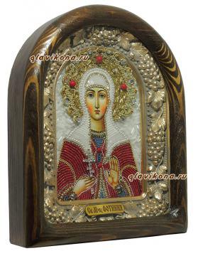 вид иконы святой Фотинии сбоку