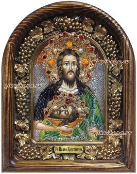 Святой Иоанн Креститель, икона бисером