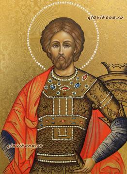 Вид образа святого Александра Невского князя