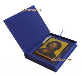 Вид иконы Спасителя в подарочном футляре, артикул 10521