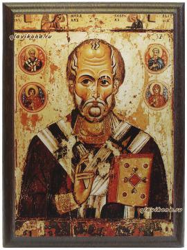 Николай Чудотворец, подарочная икона на металле