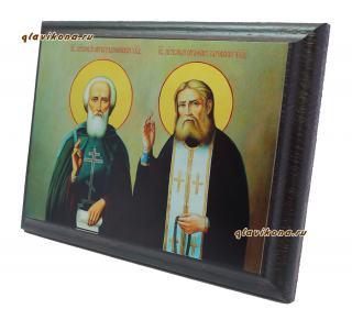 Икона Сергия и Серафима преподобных - вид сбоку