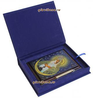 Остробрамская Божия Матерь, подарочная икона из металла