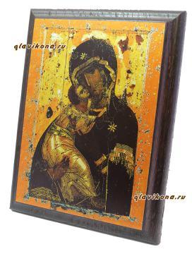 Икона Владимирская, артикул 10509, вид сбоку