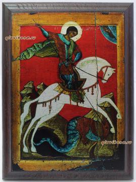 Георгий Победоносец, подарочная икона из металла