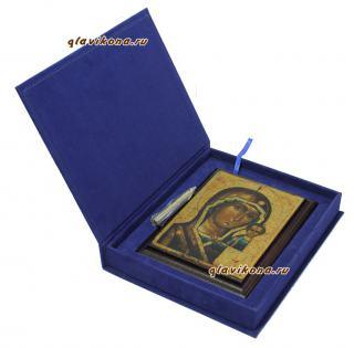 Казанская Божия Матерь, подарочная икона, артикул 10508, вид в упаковке
