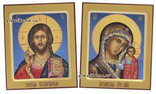 Венчальная пара икон, артикул 302, детальный вид