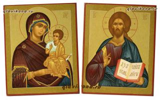 Венчальная пара с Чирской Богородицей, детальный вид