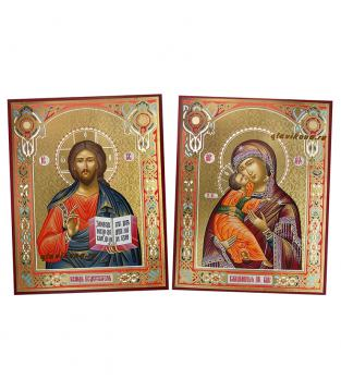 Пара икон с Владимирской, артикул 311, вид сбоку