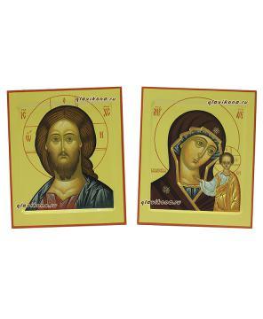 Венчальная пара икон в стиле московской иконописи, артикул 326