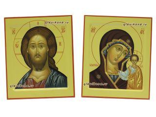 Венчальная пара икон в стиле московской иконописи, артикул 326, детальный вид