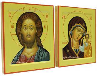 Венчальная пара икон в стиле московской иконописи, артикул 326, вид сбоку