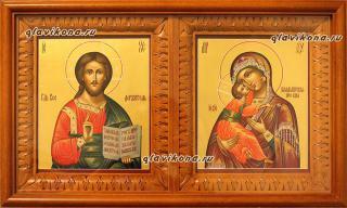 Венчальная пара на золоте, артикул 331, вид икон в киоте