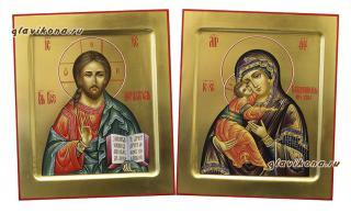 Венчальная пара на золоте с ковчегом, артикул 338, детальный вид