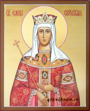 Елена Сербская, писанная икона, артикул 539