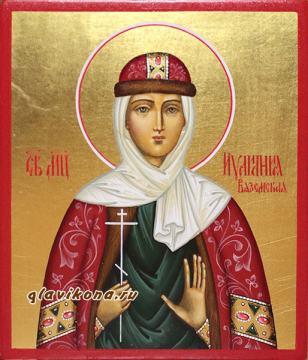 Иулиания Вяземская, рукописная икона, артикул 6190