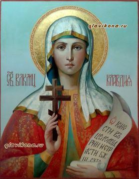 Клавдия Анкирская, писаная икона, артикул 6191