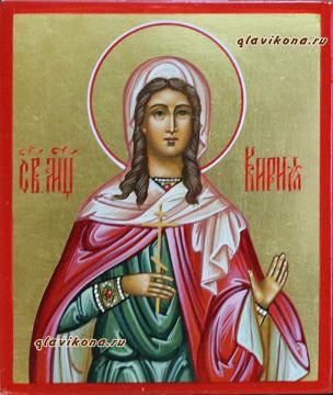 Святая Кириакия, рукописная икона артикул 6192
