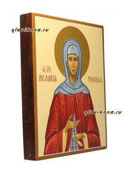 Мелания Римляныня, писаная икона, артикул 6202, вид сбоку
