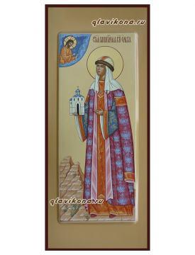 Икона святой Ольги с ростовым изображением, артикул 6205