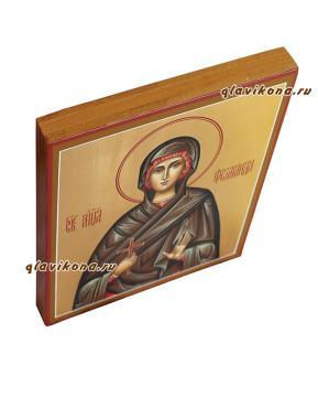 Святая Фомаида, рукописная икона артикул 6207. вид сбоку