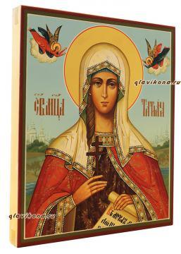 Икона Татьяны с ангелочками, артикул 541, вид сбоку