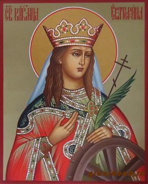 Святая Екатерина, рукописная икона артикул 6208