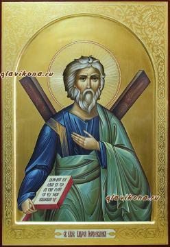 Икона Андрея Первозванного, рукописная икона артикул 6122