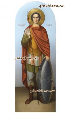 Икона Георгия Победоносца, ростовой, артикул 6133