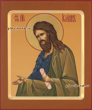 Иоанн Предтеча, икона рукописная с ковчегом