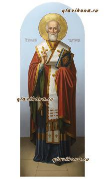 Святитель Николай в полный рост, икона маслом