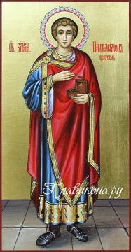 Великомученик Пантелеймон, писанная икона артикул 6160