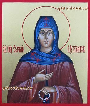 Сергий Шухтомский, икона писаная с золочением