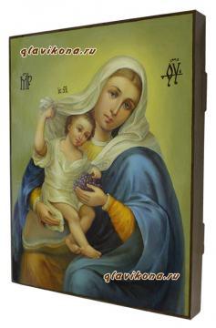Божия Матерь Покрывающая (Домодедовская), вид иконы сбоку