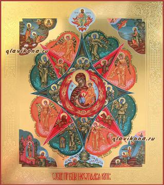 Неопалимая Купина, писаная икона артикул 5309