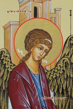 Писаная икона Святой Троицы, артикул 901, детали (справа)