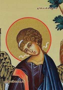 Писаная икона Святой Троицы, артикул 901, детали (центр)