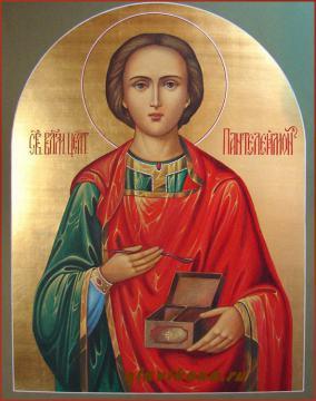 Купить в магазине икону целителя Пантелеймона, артикул 526