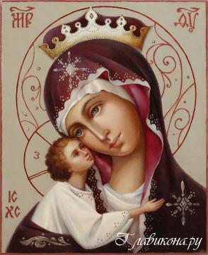Игоревская Богородица, рукописная икона артикул 262