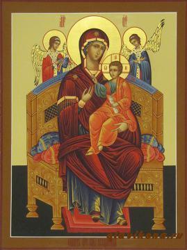 Всецарица, рукописная икона, артикул 225