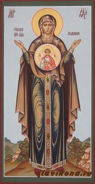 Знамение Пресвятой Богородицы, писаная икона артикул 221