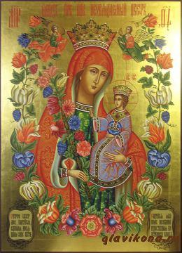 Неувядаемый Цвет, писаная икона с золочением. артикул 218