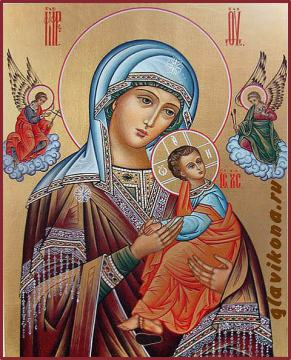Страстная Божия Матерь, рукописная икона артикул 245