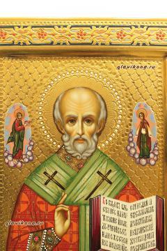 Николай Чудотворец, рукописная икона артикул 513, лик образа