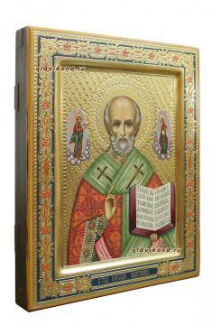 Николай Чудотворец, рукописная икона артикул 513, вид сбоку