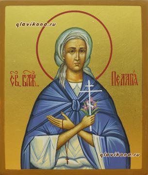 Пелагия Дивеевская, писаная икона артикул 6233
