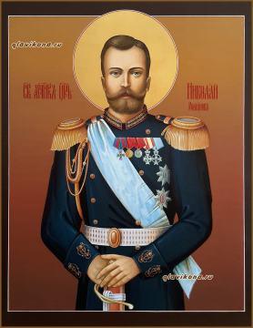 Царь Николай, писаная икона артикул 6245