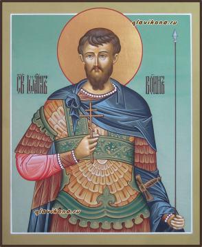 Иоанн Воин, рукописная икона артикул 6246