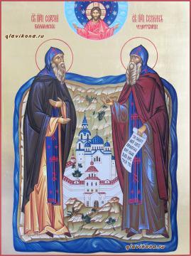 Сергий и Герман Валаамские преподобные, писаная икона